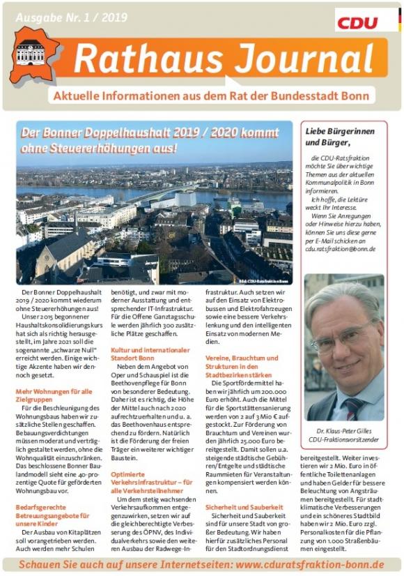 Das aktuelle Rathausjournal, Ausgabe Mai 2019