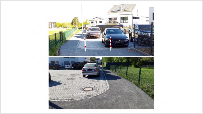 Neuer Wendehammer engt Fußgänger- und Fahrradweg gefährlich ein!